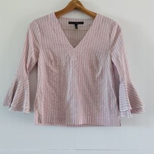 WHBM | pinstripe with bell sleeves
